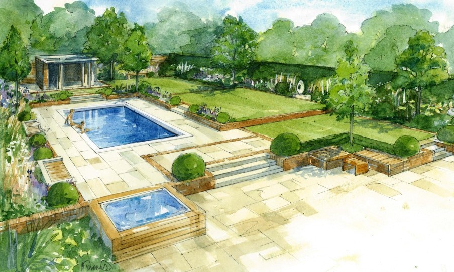 Helen thomas society of architectural illustration for Best garden design books uk