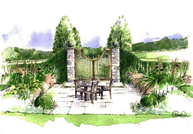 Rural garden illustration society of architectural for Rural garden designs