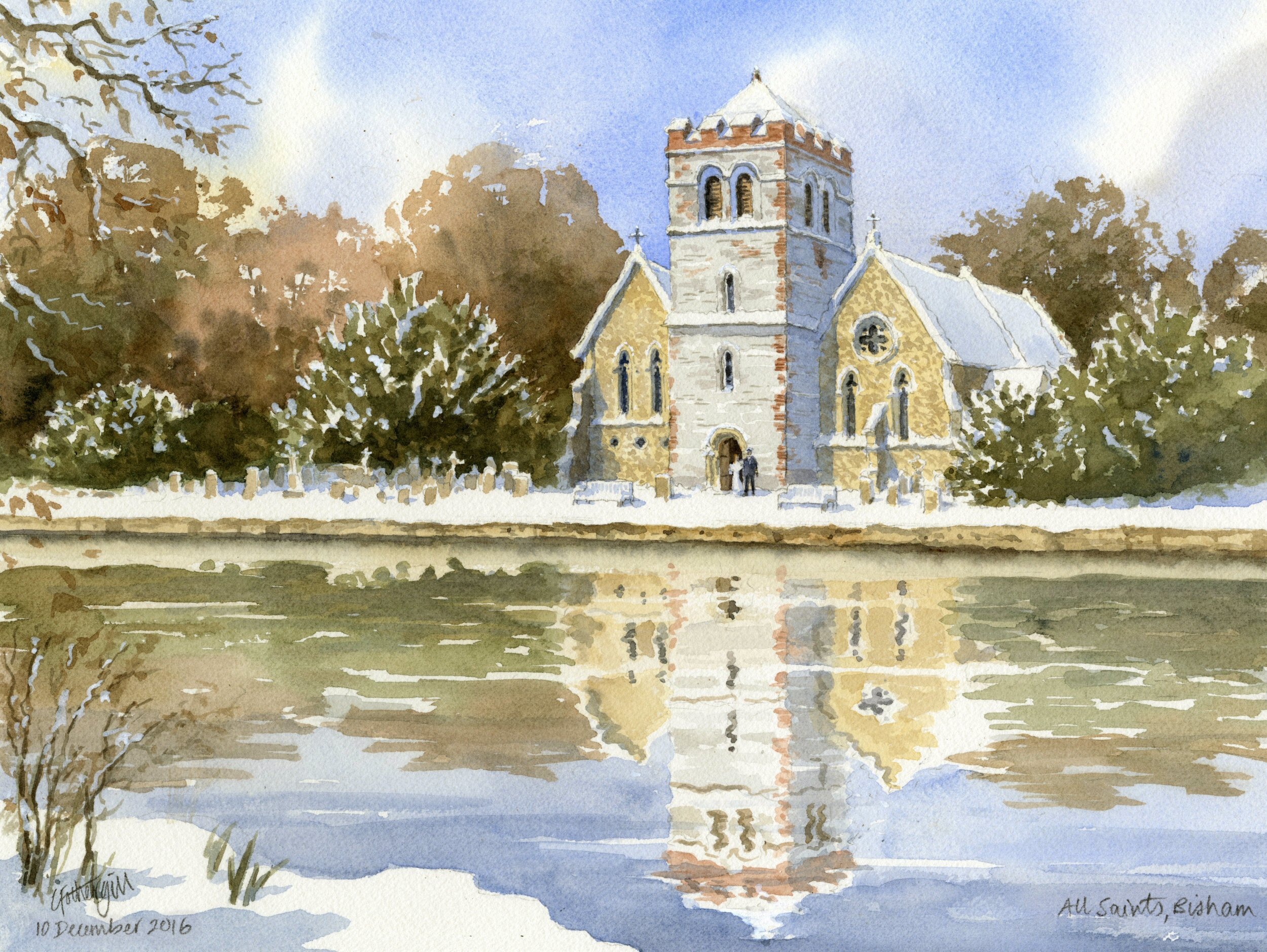 All Saints Church, Bisham in snow