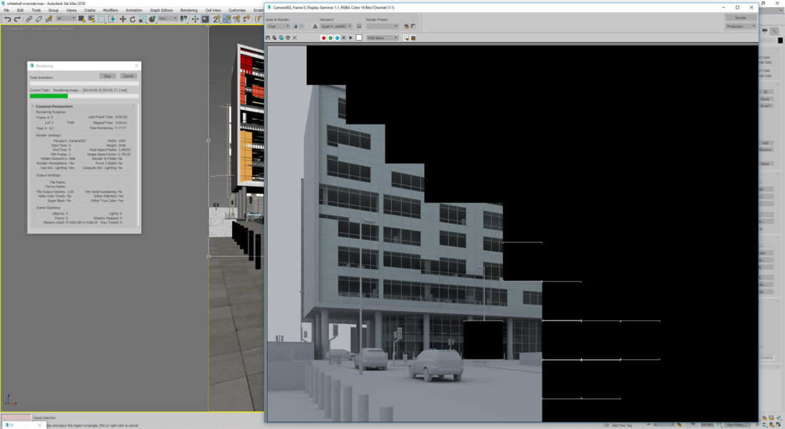 Grey render to check integrity of model